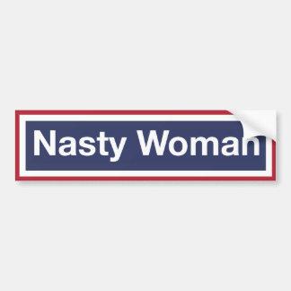 NASTY WOMAN! Resist Trump! Bumper Sticker