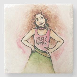 nasty woman stone coaster