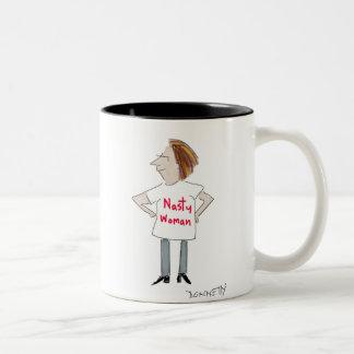 Nasty Woman Two-Tone Coffee Mug