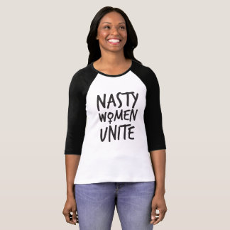 Nasty Women Unite Womens 1/4 Sleeve Shirt