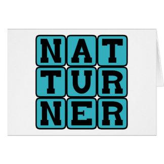 Nat Turner, Leader of Slave Rebellion Card