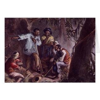 nat turner slave rebellion greeting card