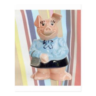 Nat West Piggy Bank Postcard
