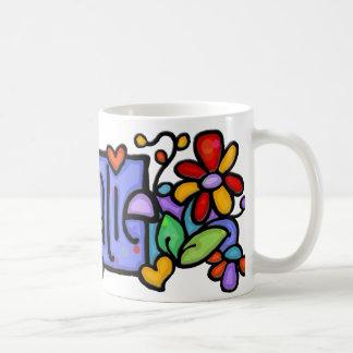 NATALIE hand-painted custom name Basic White Mug