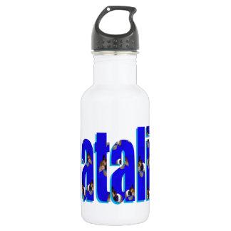Natalie Logo Made From Guinea Pigs, 532 Ml Water Bottle