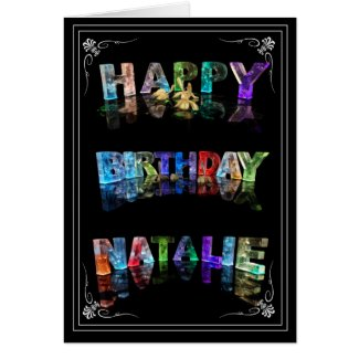 Natalie - Name in Lights greeting card (Photo)