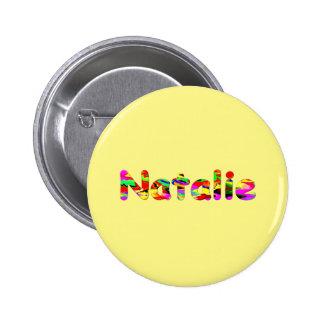 Natalie yellow Round Button