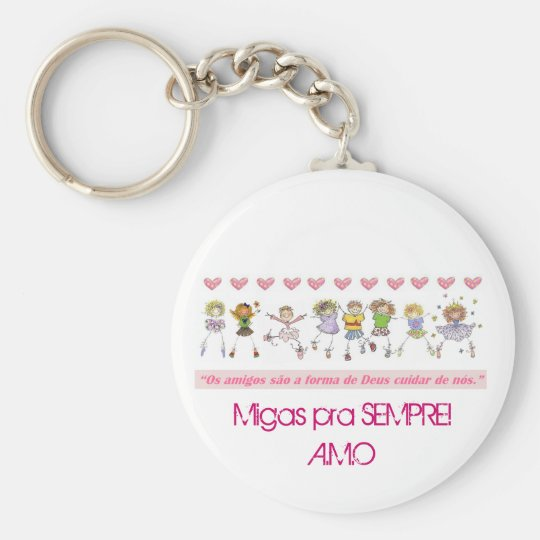 NatalMigas, Migas for ALWAYS! A.M.O Basic Round Button Key Ring