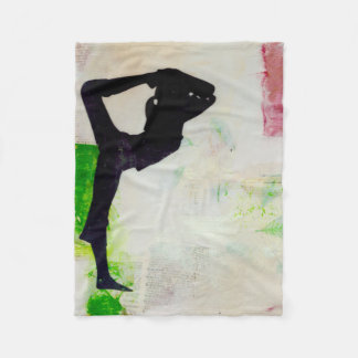 Natarajasana Yoga Girl - fleece blanket