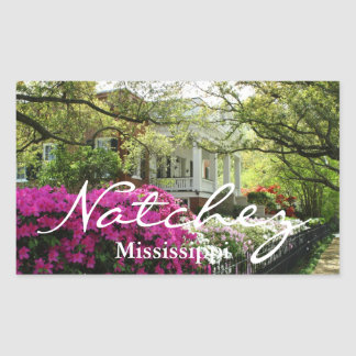 Natchez Mississippi Spring Rectangular Sticker