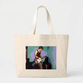 Nate and Guitar Canvas Bag