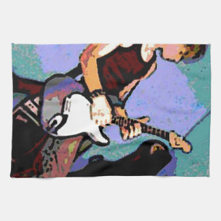 Nate and Guitar Tea Towel
