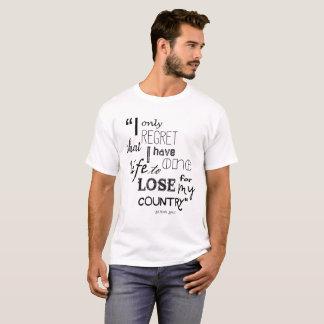 Nathan Hale Quote Men's Basic  T-Shirt