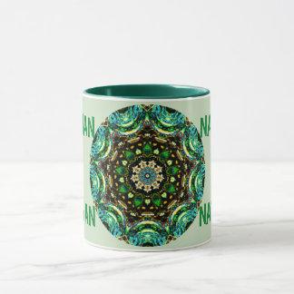 NATHAN ~ Personalised Paua Shell Fractal ~ Mug
