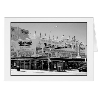 Nathan s Famous Hot Dogs Blank Greeting Card