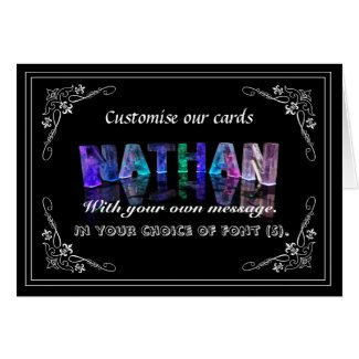 Nathan - The Name Nathan in 3D Lights (Photograph Card