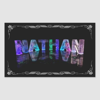 Nathan - The Name Nathan in 3D Lights (Photograph Stickers