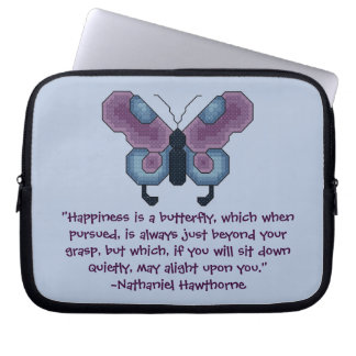 Nathaniel Hawthorne Butterfly Happiness Laptop Cas Laptop Sleeve