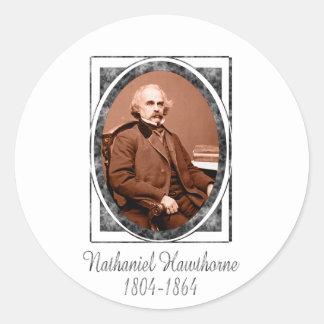 Nathaniel Hawthorne Round Sticker