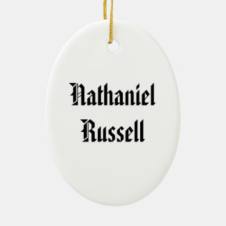 Nathaniel Russell Christmas Ornament