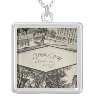 Nathaniel White memorial page Silver Plated Necklace