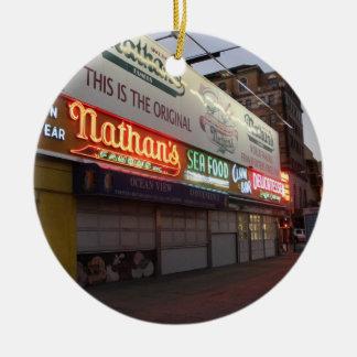 Nathans Coney  Island Christmas ornament