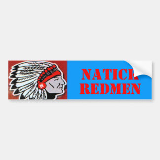 NATICK, REDMEN BUMPER STICKER