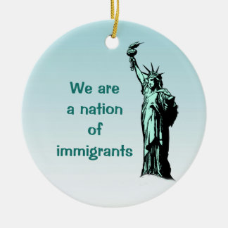 Nation of Immigrants Statue of Liberty Ornament