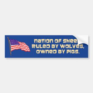 nation of sheep bumper sticker