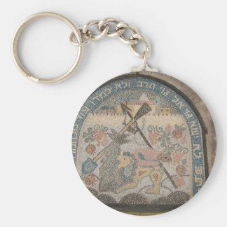 Nation shall not lift the sword against nation basic round button key ring