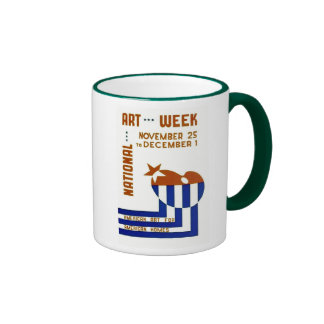 National Art Week  - WPA Poster - Coffee Mugs
