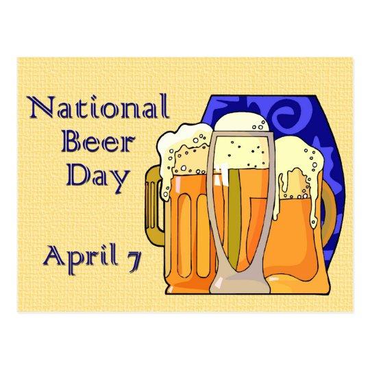 National Beer Day April 7 Postcard