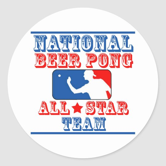 National Beer Pong Team Classic Round Sticker