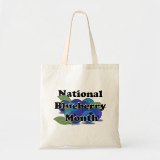National Blueberry Month Budget Tote Bag