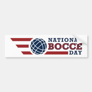 National Bocce Day Bumper Sticker