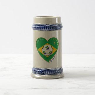 "National Brazilian football team Soccer ""BRAZIL Mug"