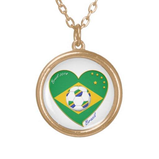 """National Brazilian football team. Soccer """"BRAZIL """" Pendant"""