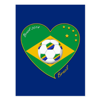 "National Brazilian football team. Soccer ""BRAZIL "" Postcard"