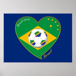 "National Brazilian football team. Soccer ""BRAZIL "" Posters"