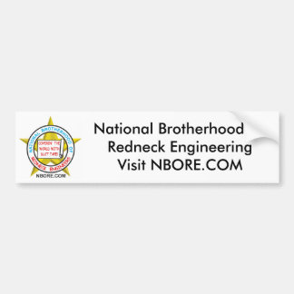 National Brotherhood Of Redneck Engineering Bumper Sticker