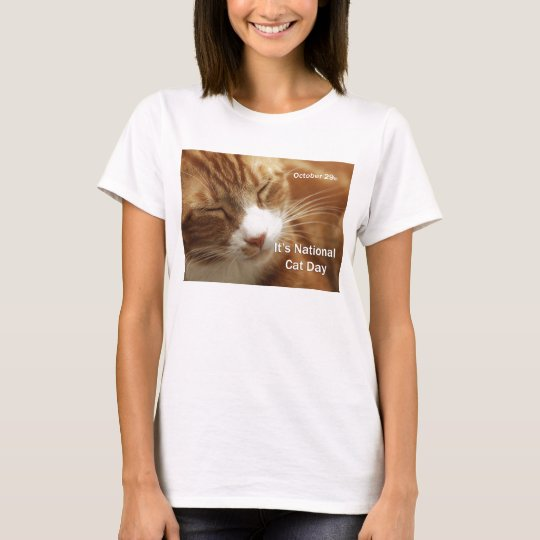 National Cat Day Tee Shirt October 29