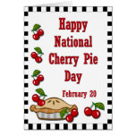 National Cherry Pie Day February 20 Greeting Card