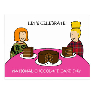 National Chocolate Cake Day January 27th Postcard