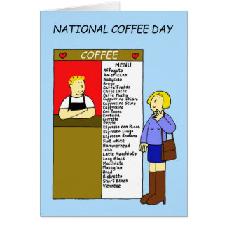 National Coffee Day Card