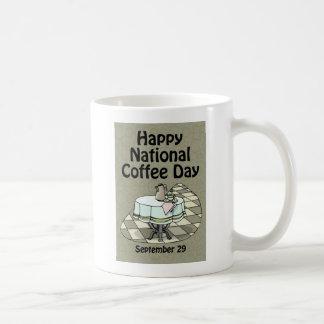 National Coffee Day September 29 Basic White Mug