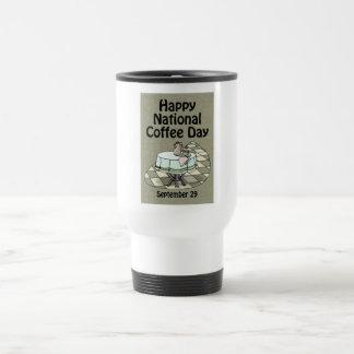 National Coffee Day September 29 Stainless Steel Travel Mug