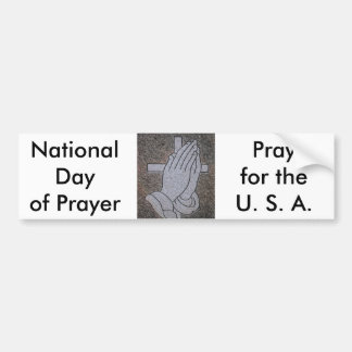 National Day of Prayer Car Bumper Sticker