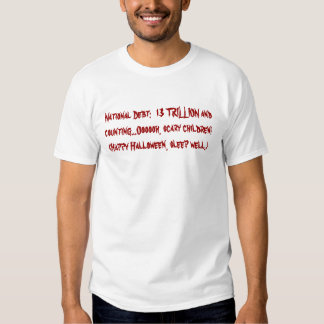 National Debt Scary Halloween Costume T Shirts