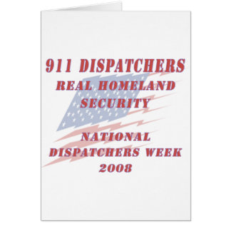 National Dispatchers Week 2008 Greeting Card
