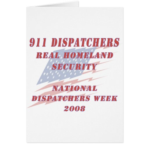 National Dispatchers Week 2008 Cards
